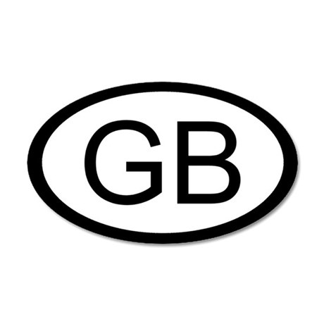 British Car Sticker / Decal (GB Oval)