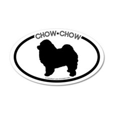 """ Chow Chow"" White 20x12 Oval Wall Peel"