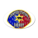 Compton Sheriff 20x12 Oval Wall Peel