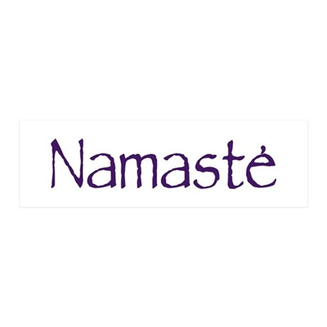 Namaste in Sacred Purple 20x6 Wall Peel