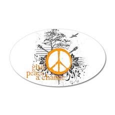 Give Peace Scene - Orange 35x21 Oval Wall Peel