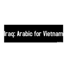 iraq: arabic for vietnam 36x11 Wall Peel