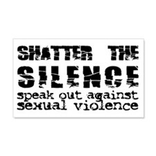Shatter the Silence 20x12 Wall Peel