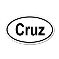 CRUZ 35x21 Oval Wall Peel