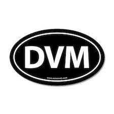 DVM Euro Style Auto 20x12 Oval Wall Peel -Black