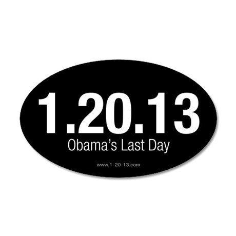 Obama's Last Day Reversed Sticker