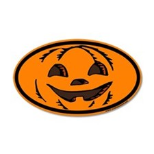 Halloween Euro 20x12 Oval Wall Peel with Jack O La