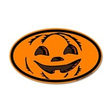 Halloween Euro 35x21 Oval Wall Peel with Jack O La