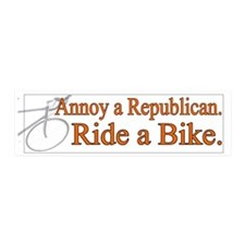 Annoy a Republican. Ride A Bi 20x6 Wall Peel