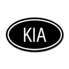 KIA 20x12 Oval Wall Peel