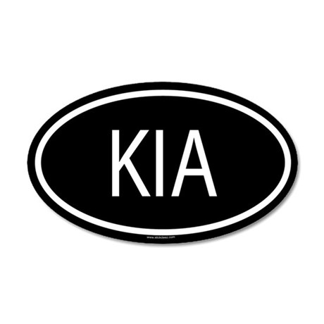 KIA 35x21 Oval Wall Peel