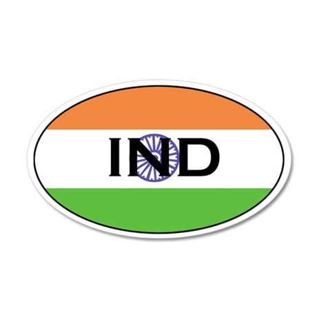 Indian Stickers 35x21 Oval Wall Peel