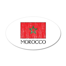 Morocco Flag 20x12 Oval Wall Peel