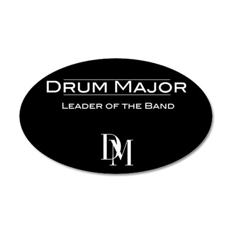 Drum Major 20x12 Oval Wall Peel