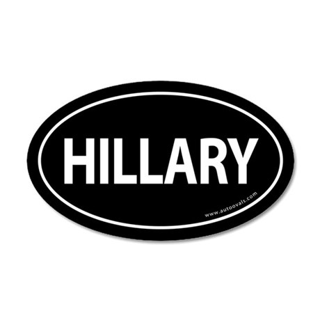 Hillary 2008 Traditional Sticker -Black (Oval)