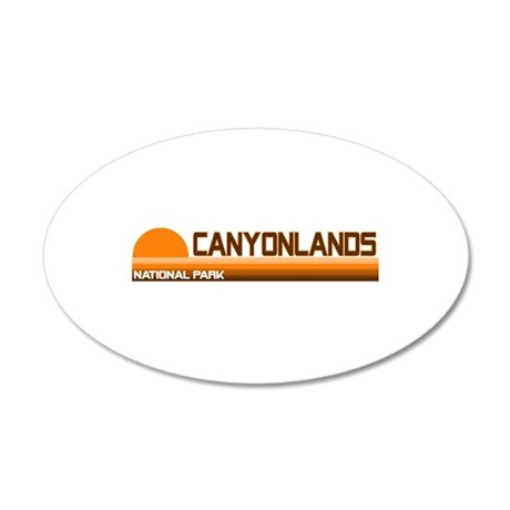 Canyonlands National Park 35x21 Oval Wall Peel