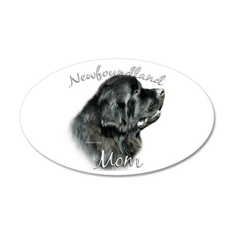 Newfie Mom2 35x21 Oval Wall Peel