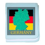 Germany Map baby blanket