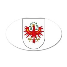 Tyrol Coat of Arms 20x12 Oval Wall Peel