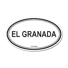 El Granada oval 20x12 Oval Wall Peel