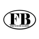 FB Abbreviation French Bulldog Sticker