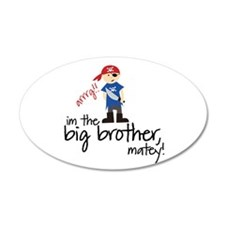 big brother shirt pirate 35x21 Oval Wall Peel