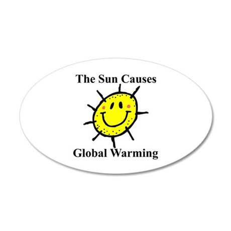 Sun Causes Global Warming 35x21 Oval Wall Peel