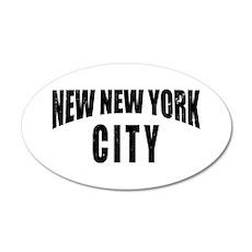 New New York City 20x12 Oval Wall Peel