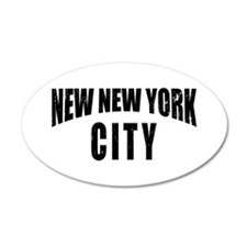 New New York City 20x12 Oval Wall Peel