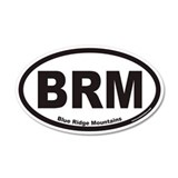Blue Ridge Mountains BRM Euro 35x21 Oval Wall Peel