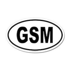 GSM 20x12 Oval Wall Peel