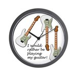 Playing My Guitar Wall Clock