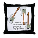 Playing My Guitar Throw Pillow