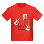 Playing My Guitar Kids Dark T-Shirt
