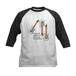 Playing My Guitar Kids Baseball Jersey