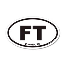 Franklin Tennessee FT Euro 20x12 Oval Wall Peel