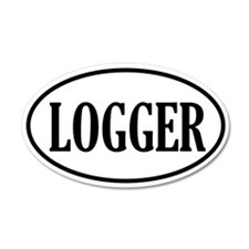 Logger Logging 35x21 Oval Wall Peel