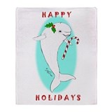 Christmas Beluga Throw Blanket