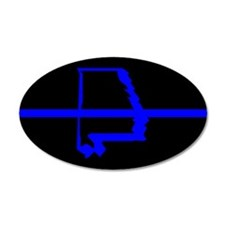 Alabama Thin Blue Line 35x21 Oval Wall Peel