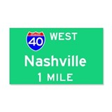 Nashville Exit Sign 20x12 Wall Peel
