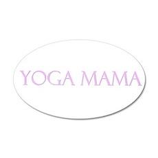 Yoga Mama 20x12 Oval Wall Peel