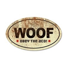WOOF! Australian Cattle Dog 35x21 Oval Wall Peel