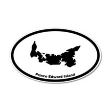 Prince Edward Island Canada Outline Decal Wall Sticker