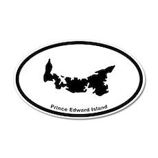 Prince Edward Island Canada Outline 35x21 Oval Wal
