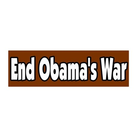 End Obama's War Peace Antiwar 36x11 Wall Peel