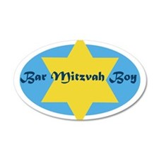 Bar Mitzvah Boy 20x12 Oval Wall Peel