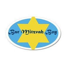 Bar Mitzvah Boy 35x21 Oval Wall Peel