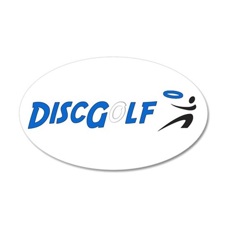 Disc Golf 20x12 Oval Wall Peel
