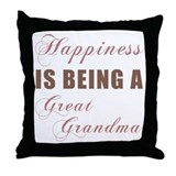 Great Grandma (Happiness) Throw Pillow
