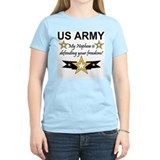 Army My Nephew is defending Women's Pink T-Shirt